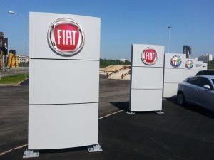 Рекламные стелы и пилоны - FIAT